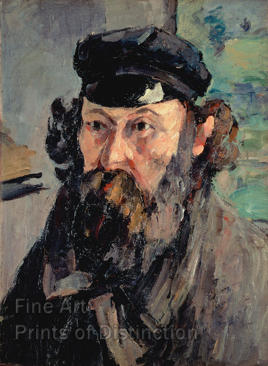 Cezanne, Paul - Self Portrait in a Casquette Fine Art Print