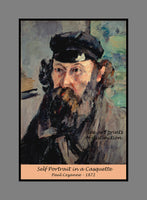 Premium poster of Self Portrait in a Casquette painted by Paul Cezanne