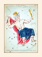 Cepheus Constellation from Urania's Mirror Astronomical Cards by Jehoshaphat Aspin