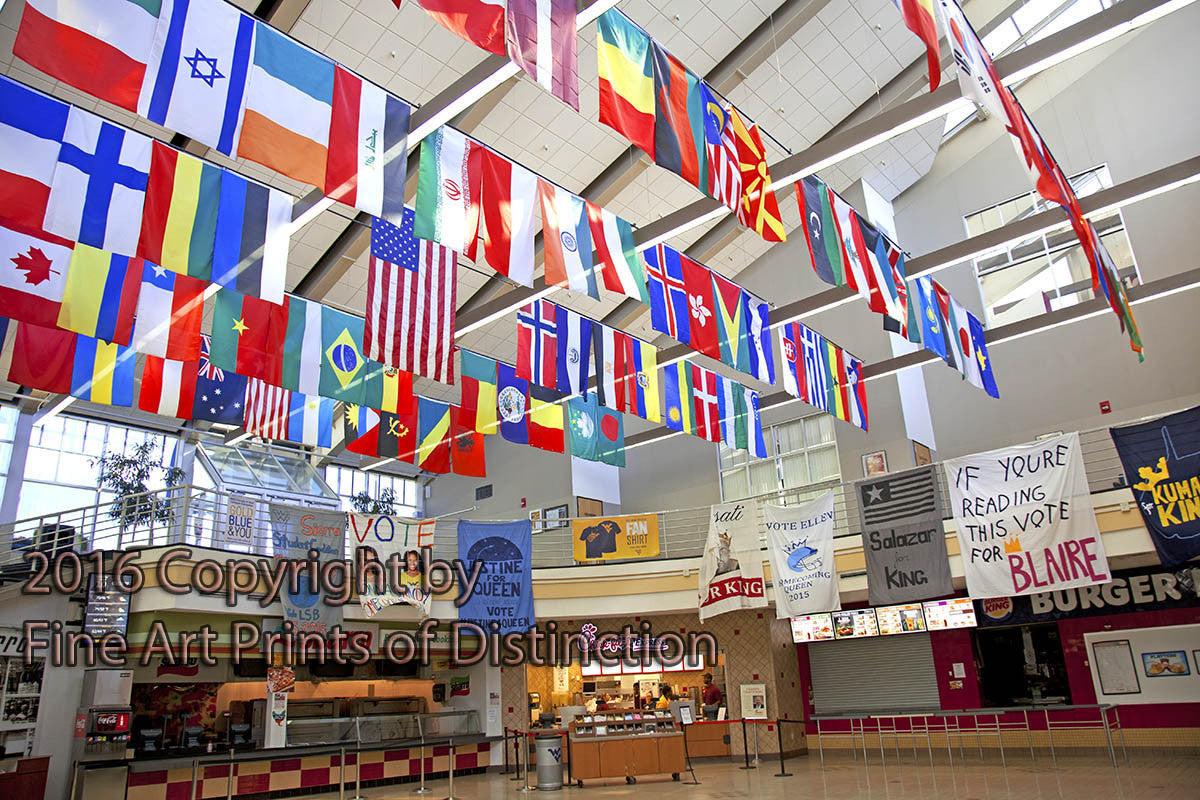 Mountainlair Country Flags in the Dining Hall