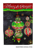 A Holiday Ornaments Christmas glitter flag
