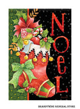 A Noel Stocking Christmas Flag