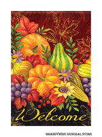 A Bountiful Harvest Fall Welcome Garden Flag