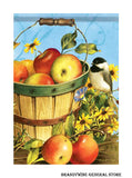 A Chickadee and Apples Fall Flag