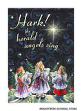 An Angel Choir decorative Christmas Flag