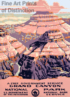 Grand Canyon National Park Tourism Poster