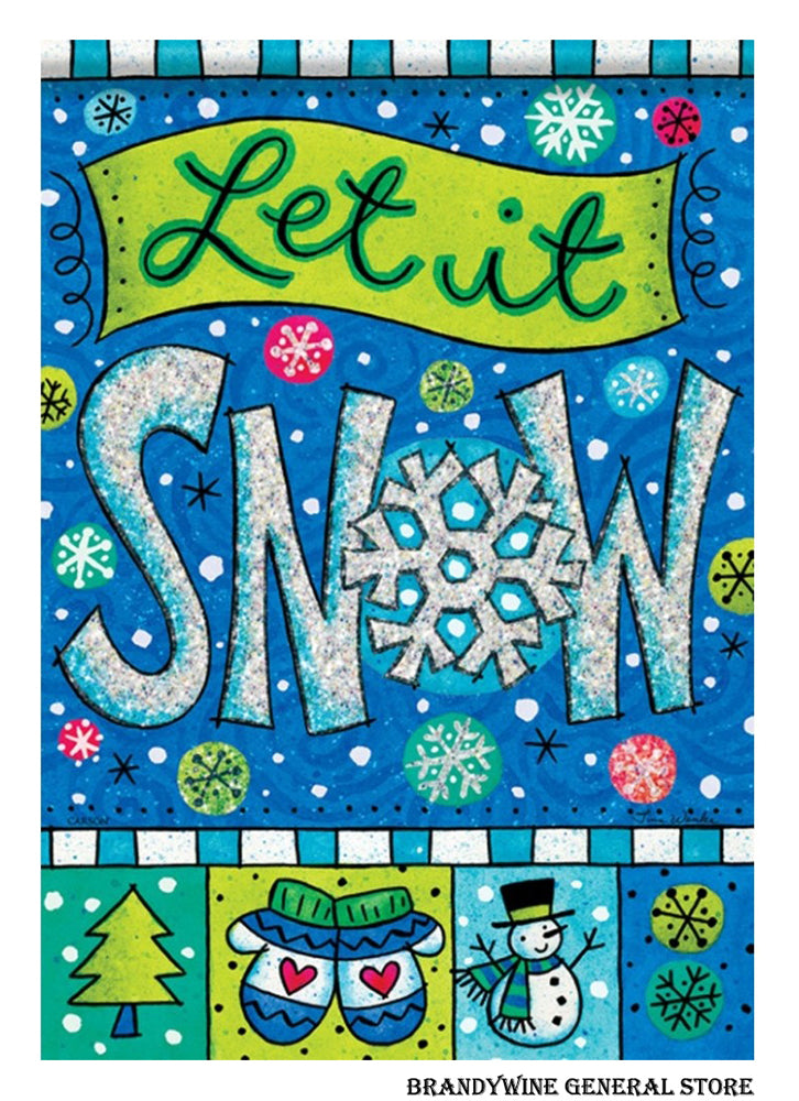 Let it Snow Winter Flag