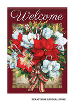 A Flowers of Christmas Decorative garden flag