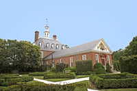 Governor's Palace and Back Shrub Garden at Williamsburg