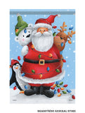 A Santa and Friends Christmas Holiday flag