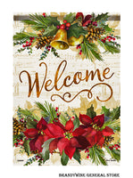 A Poinsettia Elegance Decorative Christmas Flag