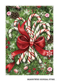 A Christmas Candy Canes Glitter Holiday flag