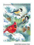 A Winter bird trio decorative winter flag