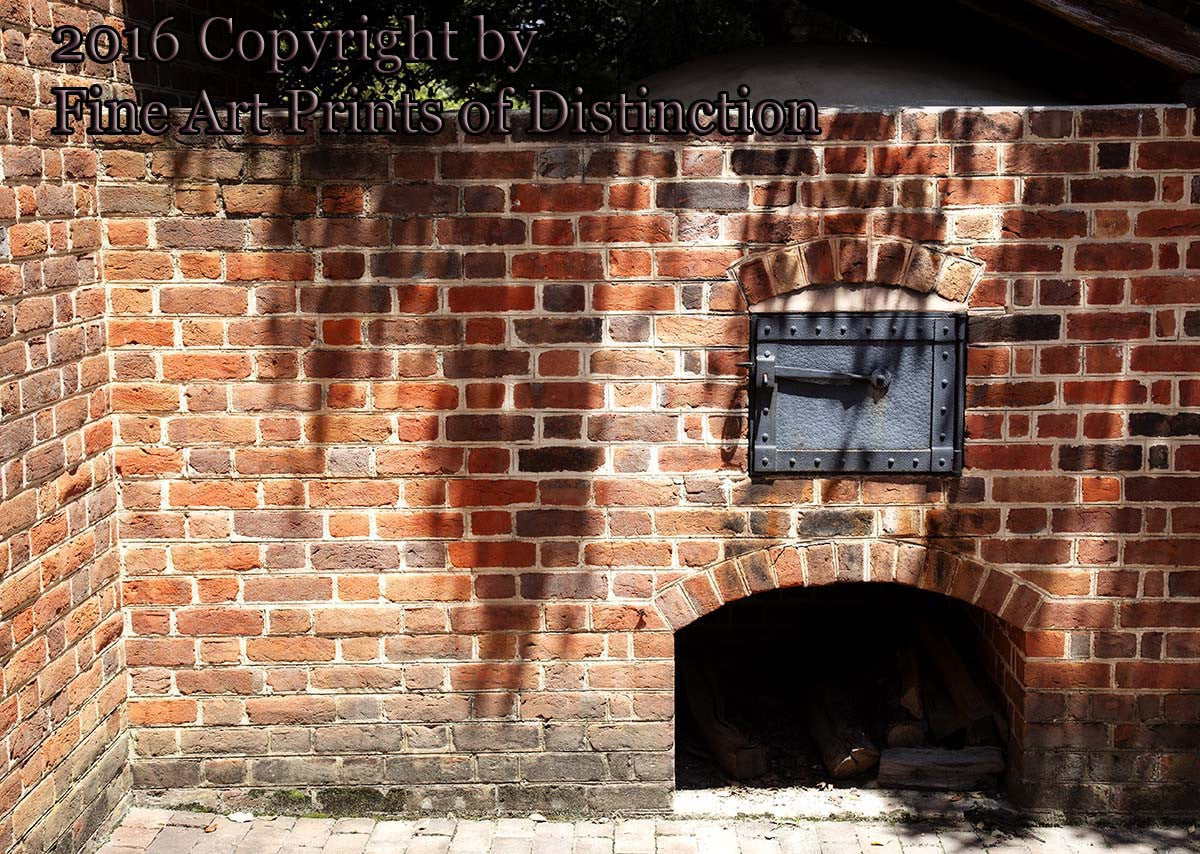 Outside Brick Hearth at the Benjamin Powell Homestead in Williamsburg, Virginia