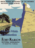 Fort Marion National Monument Tourism Poster