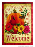 Autumn Fruit Decorative Welcome Flag