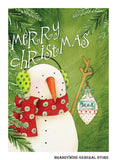 A Believe Snowman Decorative Christmas Flag