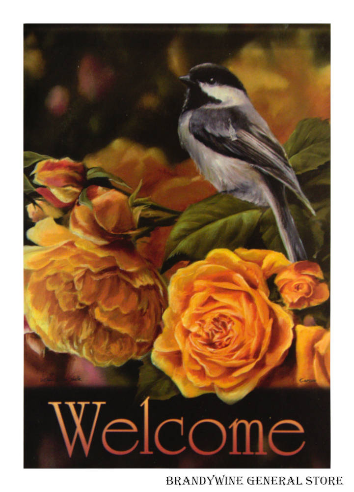 Golden Song Decorative Welcome Flag 47334