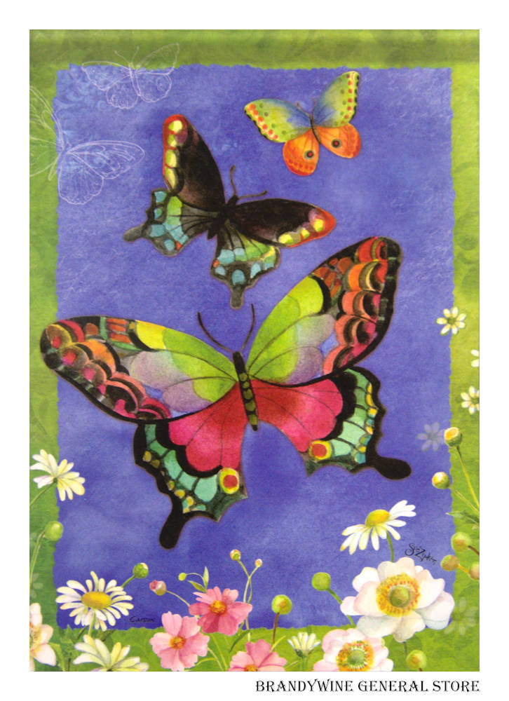 Butterfly Trio Decorative Flag