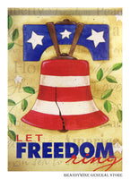 Freedom Bell Decorative Flag