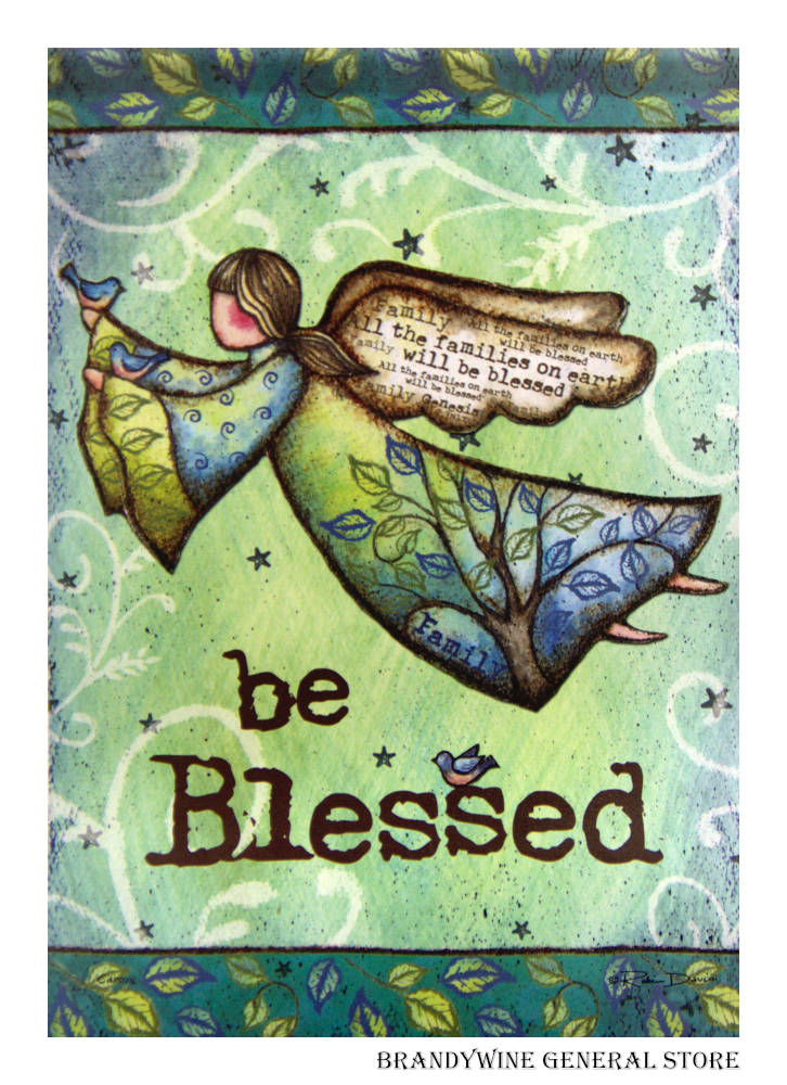 Blessings With Wings Decorative Flag