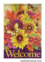 A Welcome Fall Flowers flag from Carson