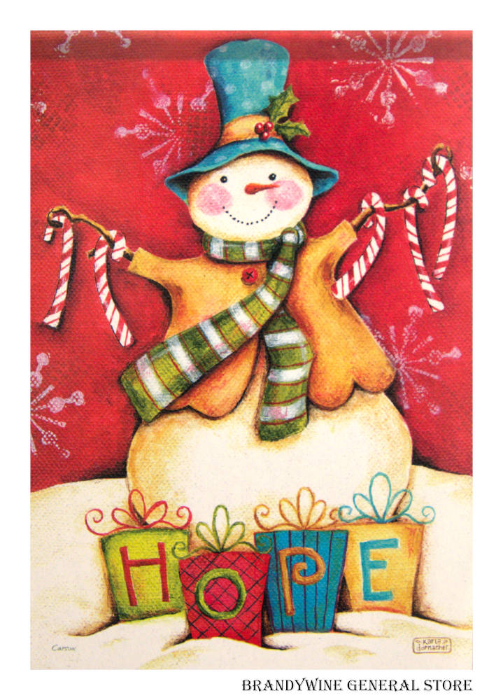 Hope Snowman Decorative Flag
