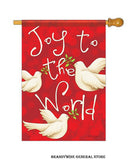 A Joy to the World Doves Christmas flag