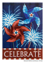 Patriotic Pinwheels Decorative Flag