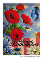 Remember Decorative Patriotic Flag 47647