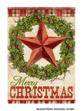 A Rustic Christmas primitive decor flag