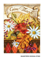 Give Thanks Banner Decorative Fall Flag