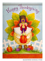 Turkey Time Decorative Thanksgiving Flag