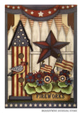 Americana Birdhouse Decorative Flag