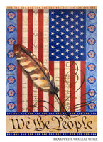 We The People Decorative Flag