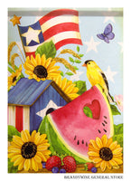 Patriotic Summer Decorative Flag