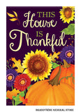 This House is Thankful Fall Flag