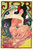Job Cigarette Paper Advertising Poster by Alphonse Mucha