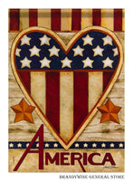 Patriotic Heart Decorative Flag