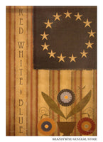 Homespun America Decorative Flag