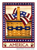 America Basket Flag 48177