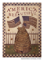 America The Bee-utiful Decorative Flag