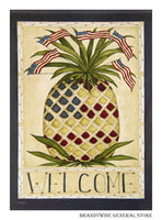 Patriotic Pineapple Decorative Welcome Flag