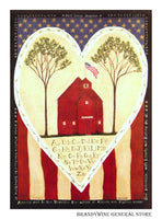 Little Red School House Decorative Flag