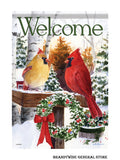 A Christmas Cardinals Decorative House Flag