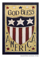 God Bless America Decorative Flag