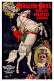 Ringling Brothers Circus Poster with Madam Castello and Jupiter