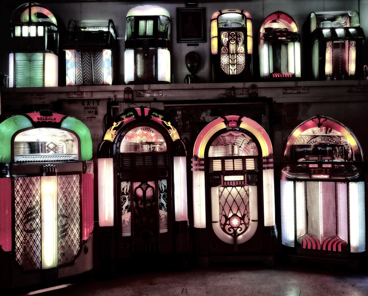 Juke Boxes at Smittys Museum Fine Art Print