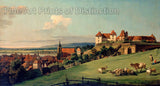 View of Pirna from Sonnenstein Castle by Bernardo Bellotto Art Print
