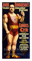 Louis Cyr Strong Man Advertising Poster